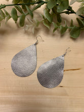 Load image into Gallery viewer, Large Teardrop Leather Earrings