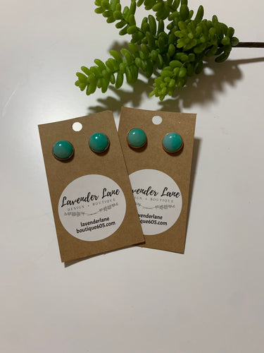 Seafoam Ombre Stud Earrings
