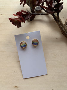 Aztec Print Stud Earrings