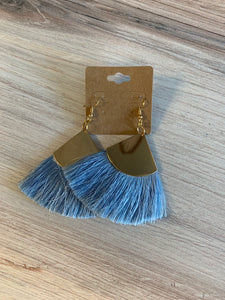 Statement Fan Tassel Earrings
