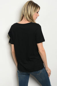 Ruffle Front Detail Top