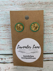 Pot O' Gold Stud Earrings