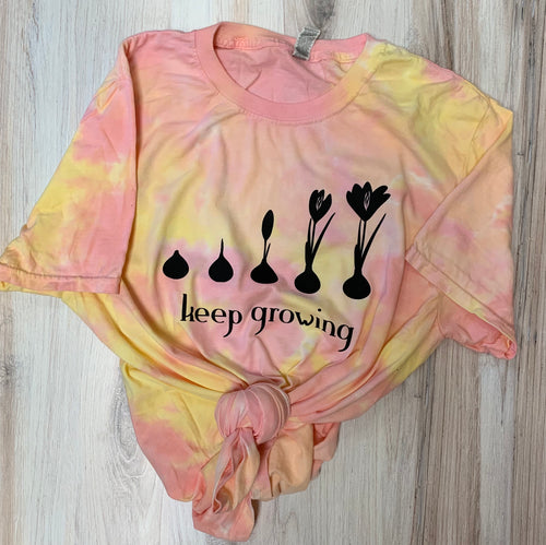 Tie Dye Keep Growing Graphic Tee