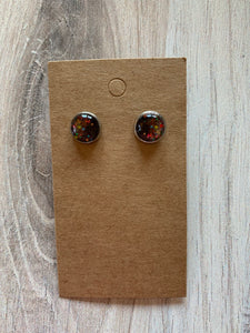 Paint Splatter Stud Earrings