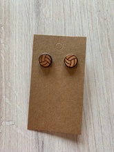 Load image into Gallery viewer, Wood Stud Earrings