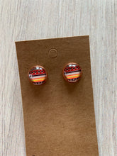 Load image into Gallery viewer, Aztec Print Stud Earrings