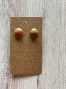 Two-Tone Stud Earrings