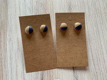 Load image into Gallery viewer, Two-Tone Stud Earrings