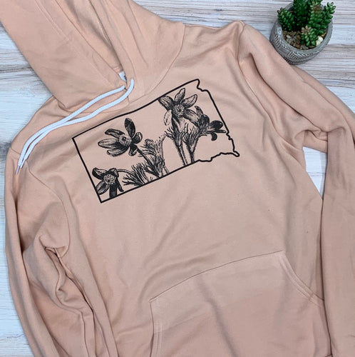 SD Pasque Flower Graphic Sweatshirt