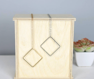 Square Minimalist Necklace