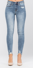 Load image into Gallery viewer, Judy Blue Destroyed Hem Non-Distressed Skinny Jeans