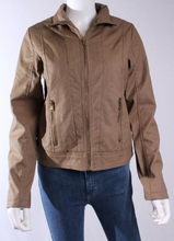Load image into Gallery viewer, Taupe Faux Leather Jacket