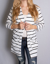 Load image into Gallery viewer, Waffle Knit Cardigan With Pockets