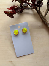Load image into Gallery viewer, Yellow Druzy Stud Earrings