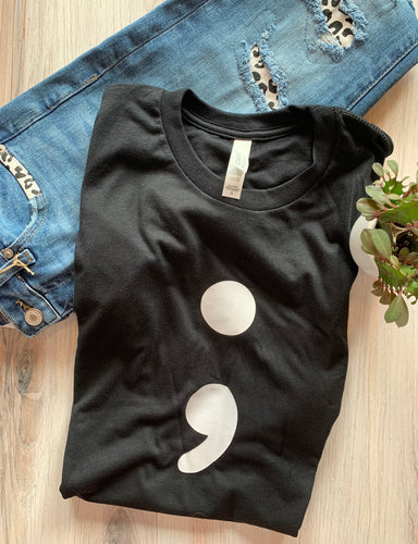Semicolon Graphic Tee