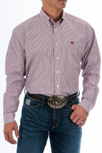 Load image into Gallery viewer, Cinch Burgundy Stripe Button Down Shirt