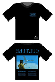 customized culture black blue oversized t-shirt
