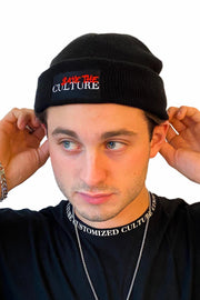 Save the Culture - Red Culture Short Beanie