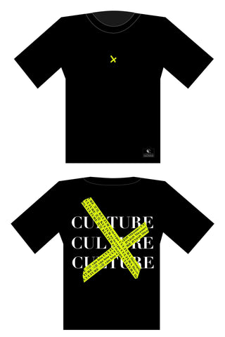 customized culture midnight black police tape oversized t-shirt