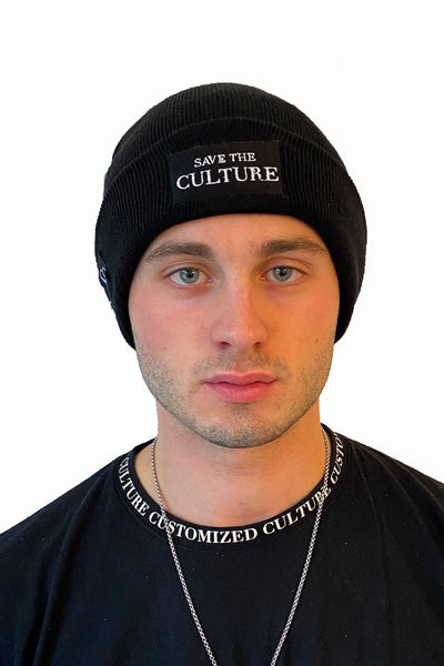 Save the Culture - White Culture Beanie