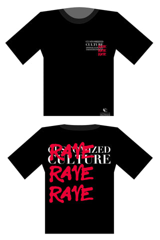 customized culture Rave T-Shirt Women Midnight Black