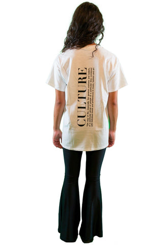 customized Culture T-Shirt Women Pure White