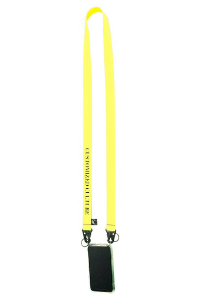 customized culture iPhone Culture Lanyard Neon Yellow