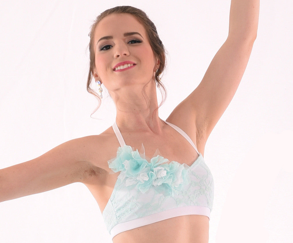 Daydream Piecey Lace Bra Top in Mint