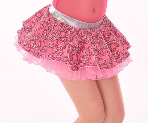 Sweetheart Glitter Poof Skirt