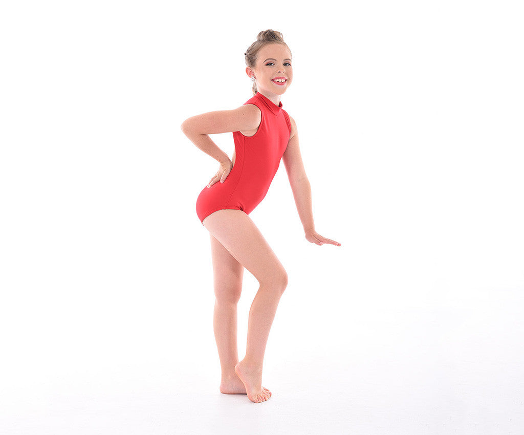 Supplex Sleeveless Open Back Bodysuit – Childs