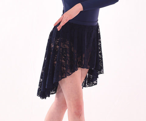 Basic Lace Hi Low Circle Skirt – Adults