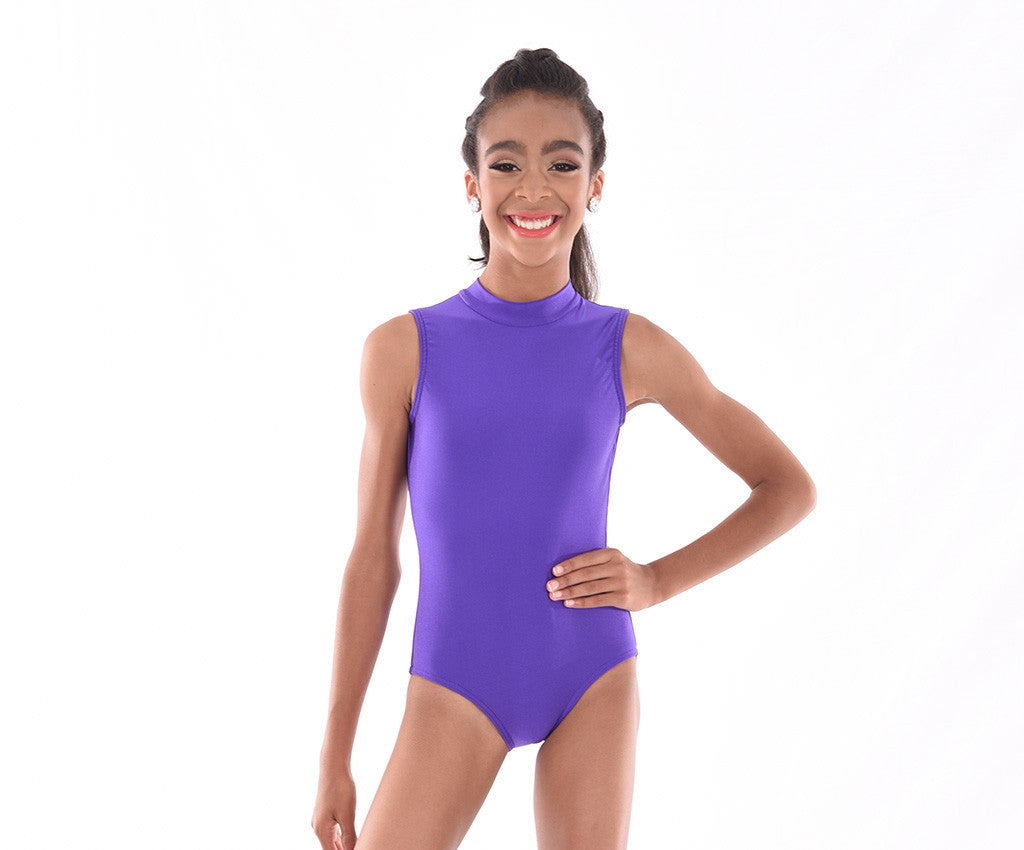 Lycra Sleeveless Open Back Bodysuit – Girls