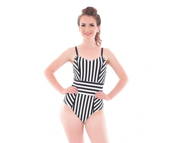 Carnival Attitude Striped Bodysuit