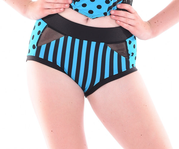 Carnival Flare Mesh Side Hot Shorts