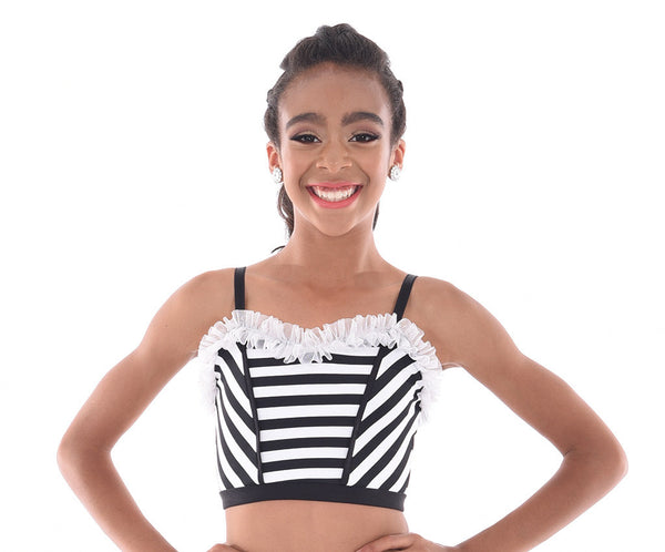Carnival Attitude Striped CropTop