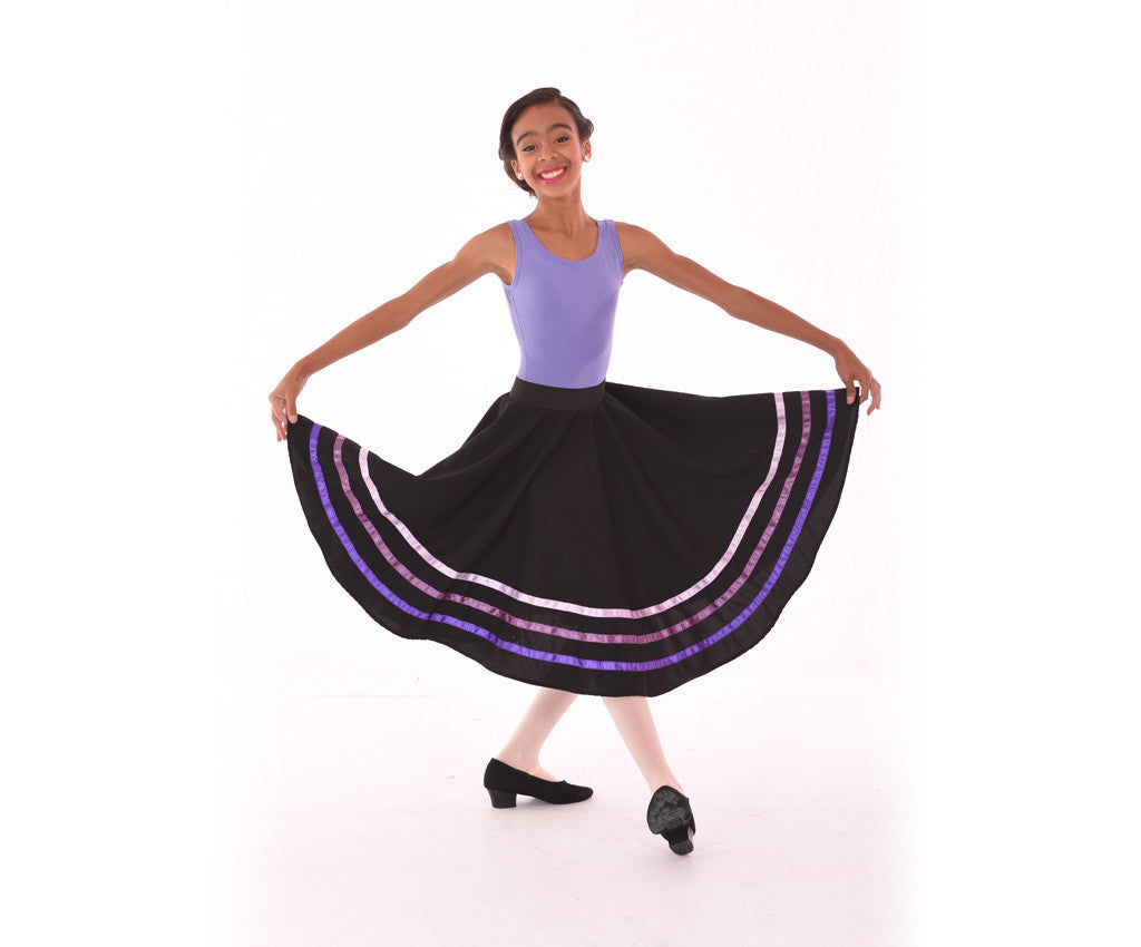 Coloured Ribbon Character Skirt, Purple