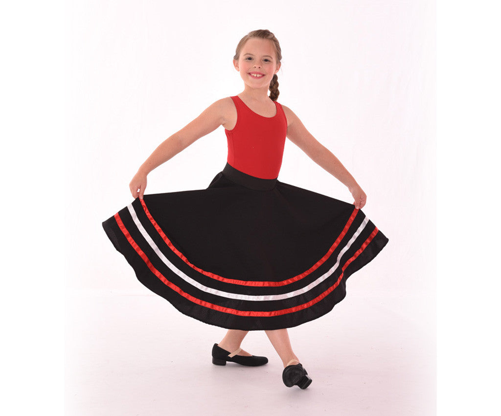 Coloured Ribbon Character Skirt, Red