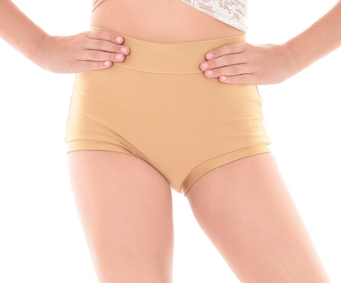 Basic Lycra High Waist Hot Shorts - Girls