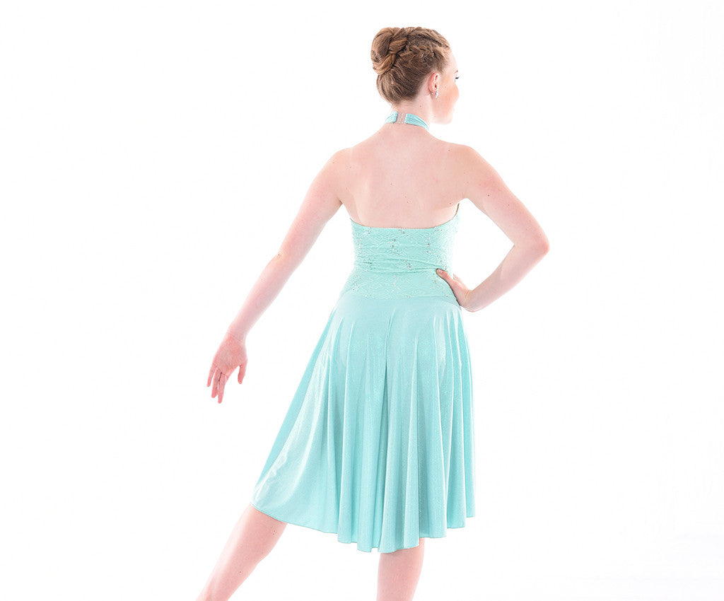 Delicate in Mint Lyrcial Dress