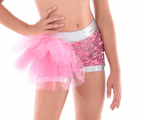 Sweetheart Glitter Bustle Short