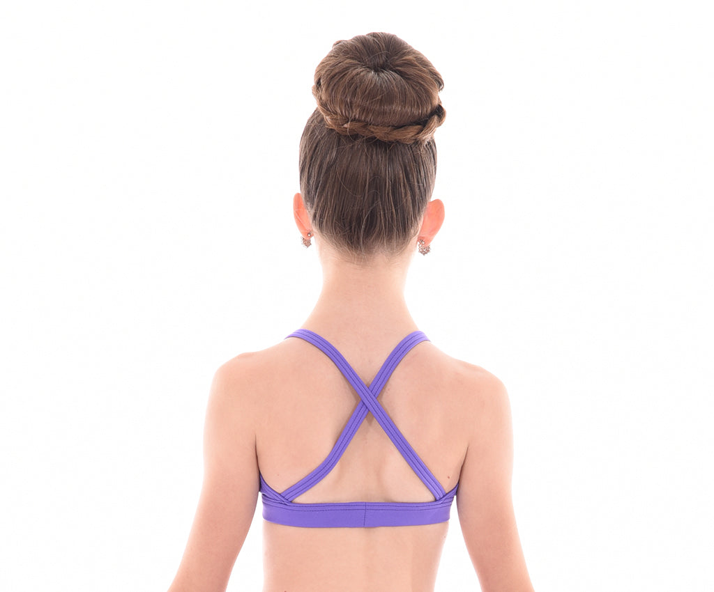 Supplex Cross Back Triangle Bra Top - Childs