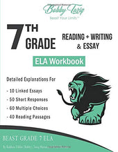 Load image into Gallery viewer, 7th Grade Reading + Writing & Essay ELA Workbook