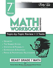 Load image into Gallery viewer, 7th Grade Math Workbook: Topic by Topic Review | Common Core