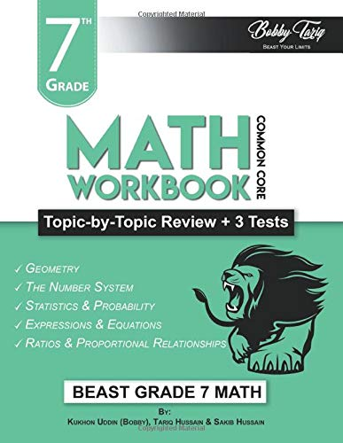 7th Grade Math Workbook: Topic by Topic Review | Common Core