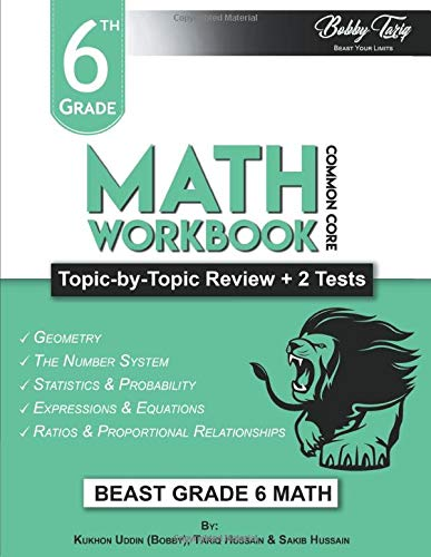 6th Grade Math Workbook: Topic by Topic Review | Common Core
