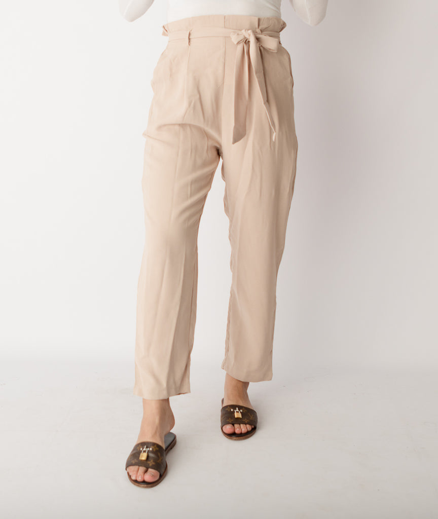 High Waist Nude Pants