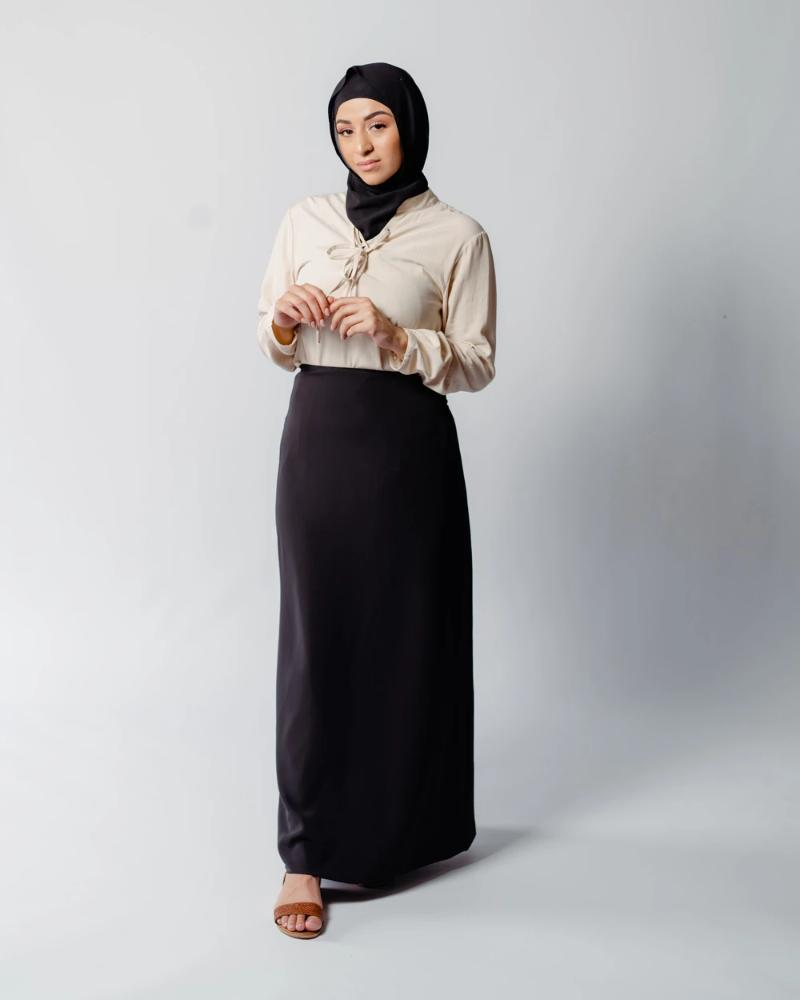Black High Rise Maxi Skirt