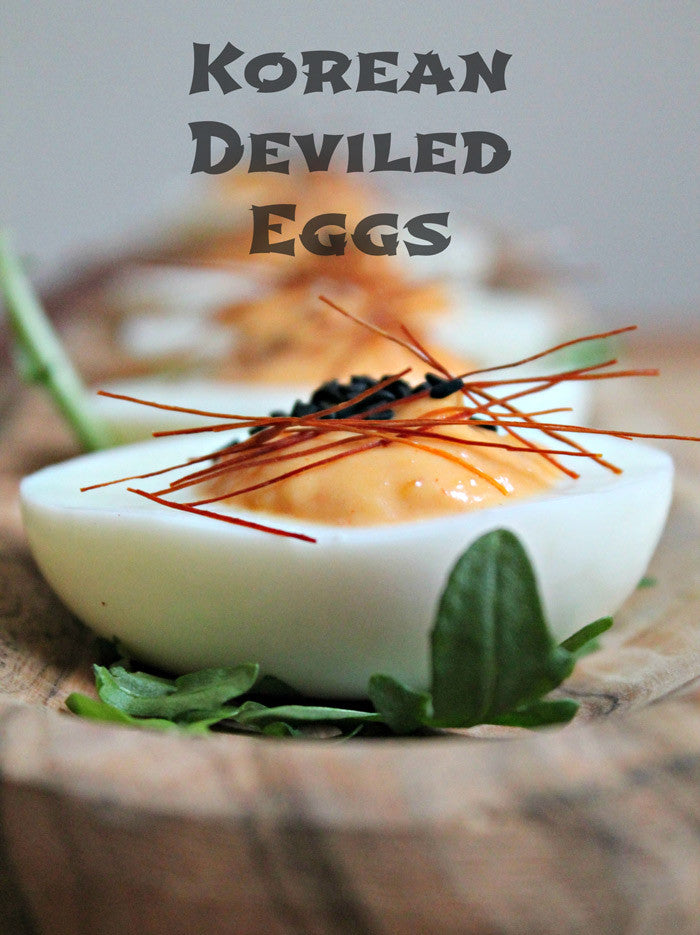 Korean Deviled Eggs - Guest Post