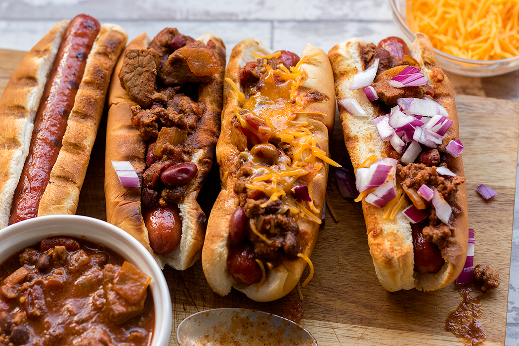 Cowboy Chili Dogs Recipe | spiceologist.com