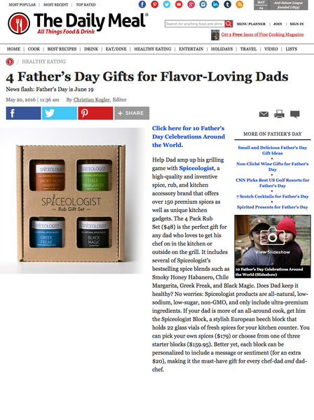 The Daily Meal - 4 Father's Day Gifts for Flavor-Loving Dads | spiceologist.com